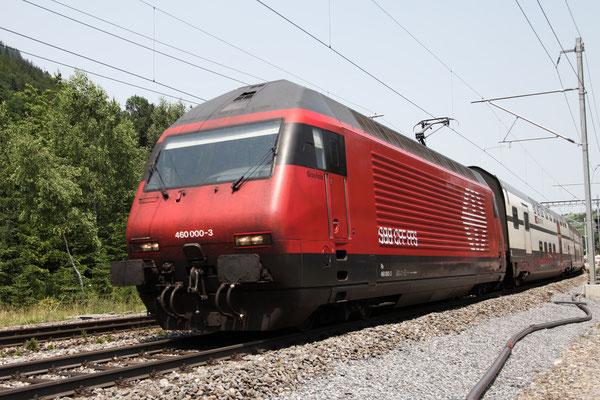 """Re 460 000-3 """"Grauholz"""" , Mülenen, 30.06.2012 (©pannerrail.com)"""
