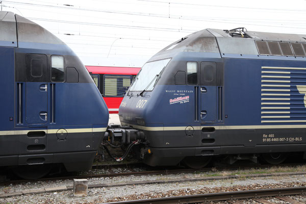 "BLS Re 465 007-3, ""Schilthorn"", Landquart (23.10.2012) ©pannerrail.com"