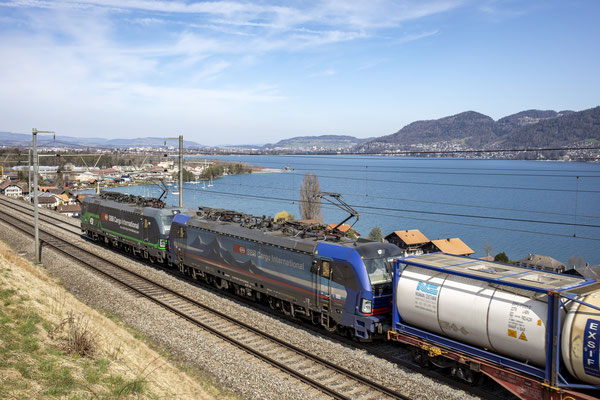 "SBB Cargo International, BR 193 517 ""Limmat"", Einigen (02.04.2021) ©pannerrail.com"