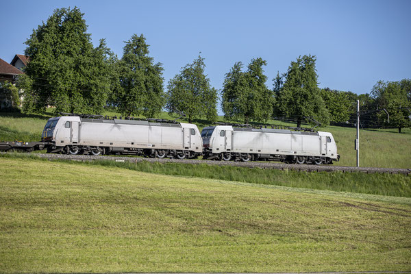 Crossrail, BR 186 907, Rotkreuz (08.05.2020) ©pannerrail.com