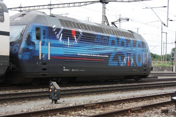 """Re 460 021-9 """"2316 Lokführer"""", Killwangen, 03.06.2011 (©pannerrail.com)"""