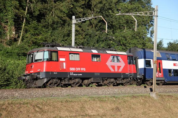 Re 4/4, 11216 (420 216-4 LION), Rotkreuz (03.09.2013) ©pannerrail.com