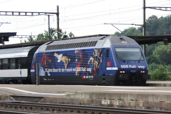 """Re 460 050-8 """"Rail Away"""", Killwangen, 06.04.2011 (©pannerrail.com)"""