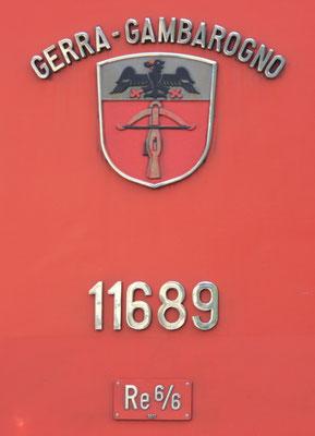 Re 6/6 Gerra-Gambarogno Gemeindewappen ©pannerrail.com