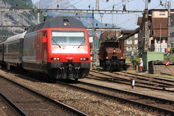 "Re 460 036-4 ""My Switzerland"", Erstfeld, 07.05.2011 (©pannerrail.com)"