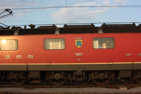 """Re 6/6 11607 """"Wattwil"""", Oberrüti (13.08.2010) ©pannerrail.com"""