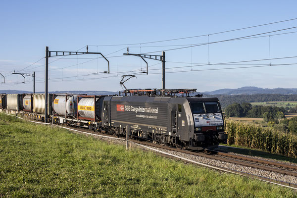 MRCE Dispolok BR 189 ES 64 F4-091 (SBB Cargo International), Mühlau (05.09.2021) ©pannerrail.com