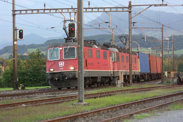 """Re 6/6 11636 """"Vernier-Meyrin"""", Oberrüti (03.08.2010) ©pannerrail.com"""