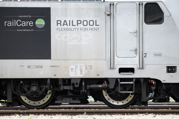"Railcare BR 186 ""Flash Fire"", Rotkreuz (18.07.2013) ©pannerrail.com"