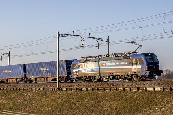 "SBB Cargo International, BR 193 518 ""Ticino"", Pratteln (01.03.2021) ©pannerrail.com"