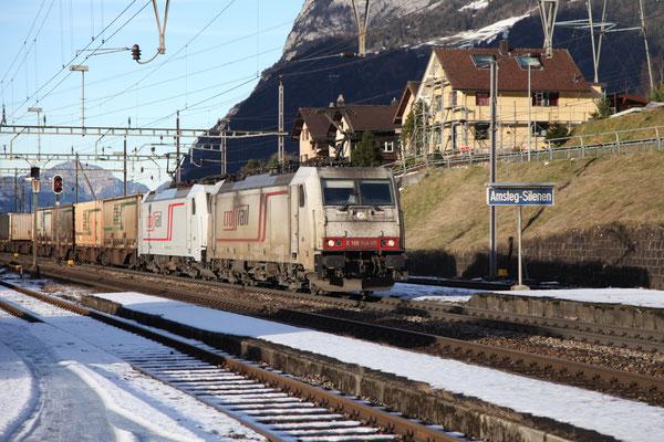 Crossrail, BR 186 904, Amsteg-Silenen (09.12.2013) ©pannerrail.com
