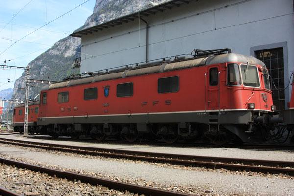 """Re 6/6 11654 """"Villeneuve"""", Erstfeld (07.05.2011) ©pannerrail.com"""