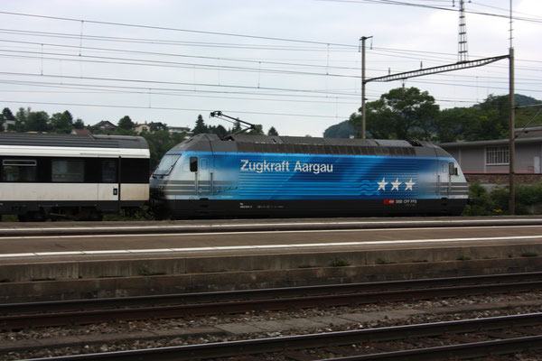 """Re 460 024-3 """"Zugkraft Aargau"""", Killwangen, 03.06.2011 (©pannerrail.com)"""