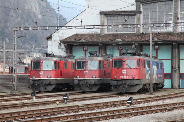 Re 4/4, 11163, Erstfeld (17.04.2012) ©pannerrail.com