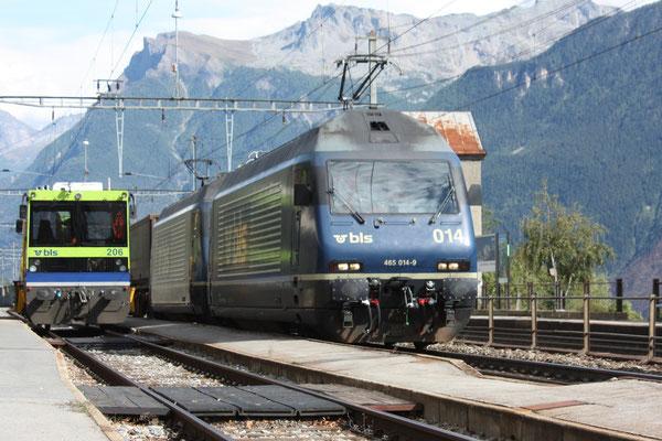 """BLS Re 465 014-9, """"Spalenberg"""", Ausserberg (31.08.2011) ©pannerrail.com"""
