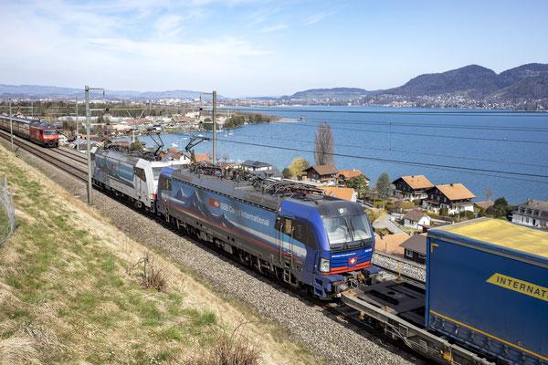 """SBB Cargo International, BR 193 519 """"Adige"""", Einigen (02.04.2021) ©pannerrail.com"""
