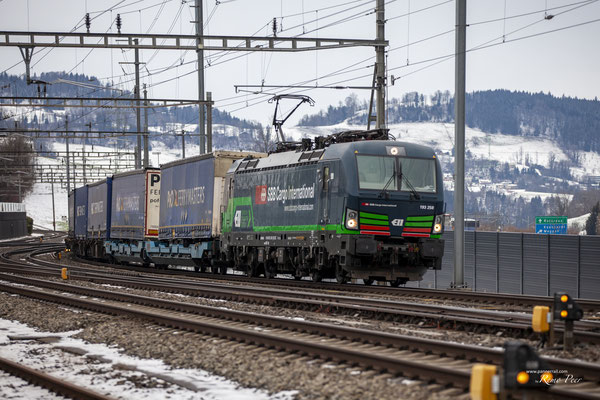 SBB Cargo International (ELL), BR 193 258, Immensee (17.02.2021) ©pannerrail.com