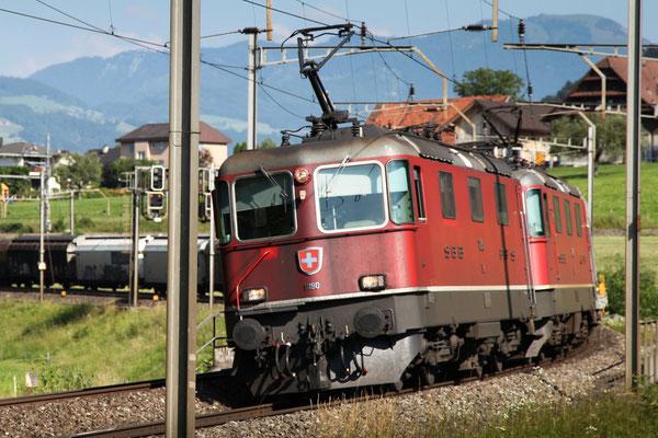 Re 4/4, 11190, Rotkreuz (12.07.2013) ©pannerrail.com