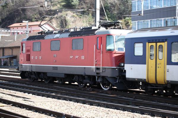 Re 4/4, 11195, Bellinzona (12.03.2014) ©pannerrail.com