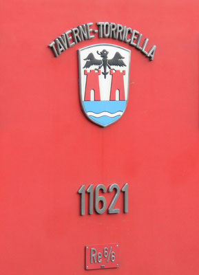 Re 6/6 Taverne-Torricella Gemeindewappen ©pannerrail.com