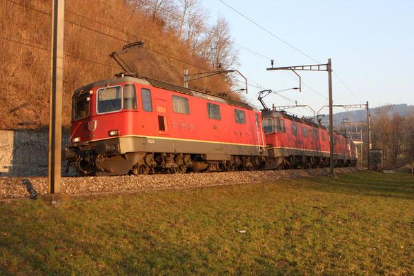 """Re 6/6 11670 """"Affoltern am Albis"""", Rotkreuz (14.03.2012) ©pannerrail.com"""