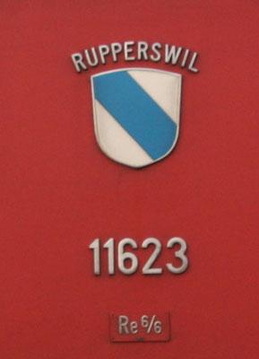 Re 6/6 Rupperswil Gemeindewappen ©pannerrail.com
