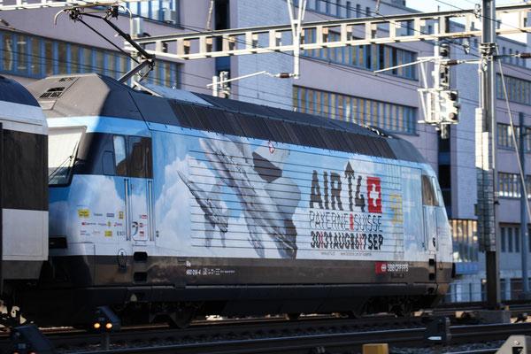 "Re 460 014-4 ""Air14"" (Loktaufname: ""Val-du-Trient""), Gümligen, 23.12.2013 (©pannerrail.com)"
