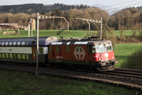 Re 4/4, 11203 (420 203-2 LION), Rotkreuz (18.04.2013) ©pannerrail.com