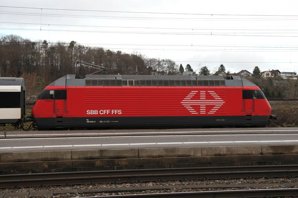 "Re 460 043-3 ""Dreispitz"", Killwangen, 28.12.2012 (©pannerrail.com)"