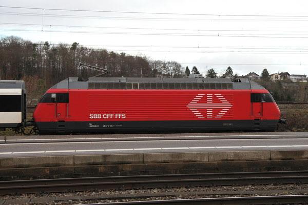 """Re 460 043-3 """"Dreispitz"""", Killwangen, 28.12.2012 (©pannerrail.com)"""