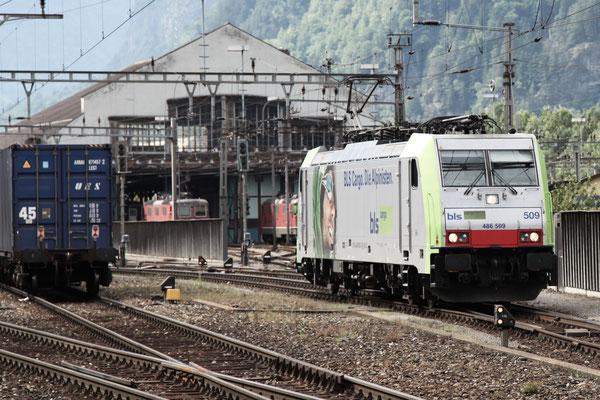 BLS Re 486 509, Erstfeld (03.08.2013) ©pannerrail.com