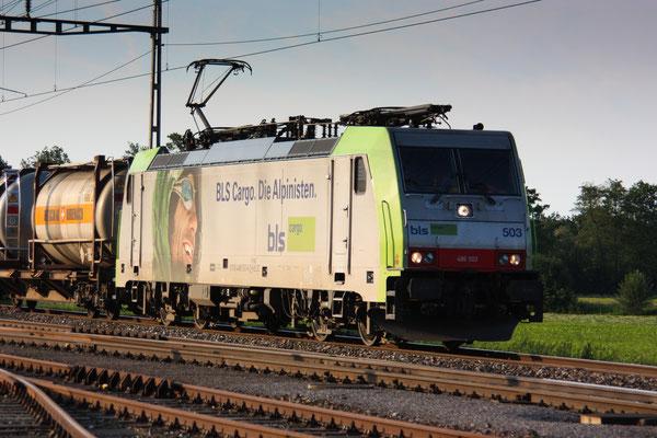 BLS Re 486 505, Oberrüti (23.06.2010) ©pannerrail.com