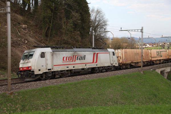 Crossrail, BR 186 902, Mühlau (18.04.2013) ©pannerrail.com