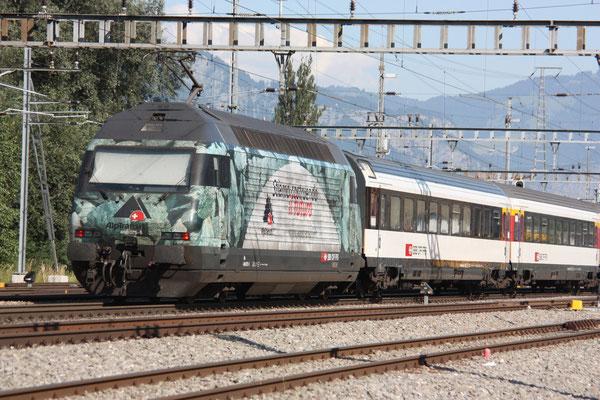 """Re 460 075-5 """"Alptransit"""", Sargans, 27.06.2011 (©pannerrail.com)"""