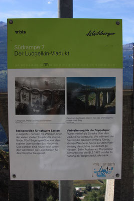 "BLS Wanderweg ""Lötschberger"" - Luogelkin-Viadukt Beschreibung"