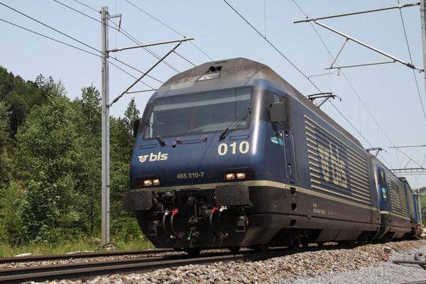 """BLS Re 465 010-7, """"Mont Vully"""", Mülenen (30.06.2012) ©pannerrail.com"""
