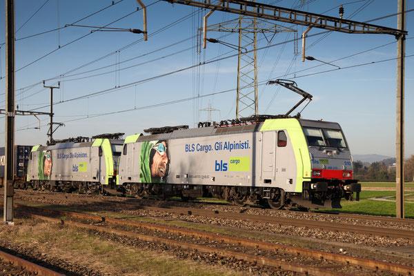 BLS Re 486 510, Oberrüti (19.10.2012) ©pannerrail.com