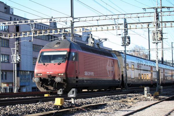 """Re 460 100-1 """"Tösstal"""", Gümligen, 23.12.2013 (©pannerrail.com)"""