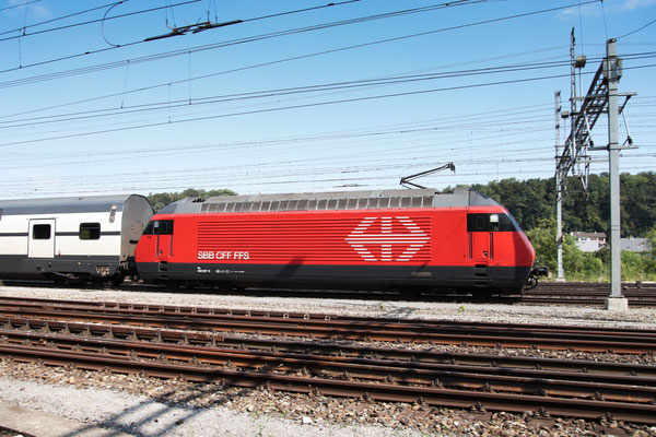 "Re 460 007-8 ""Junior"", Killwangen, 06.09.2013 (©pannerrail.com)"