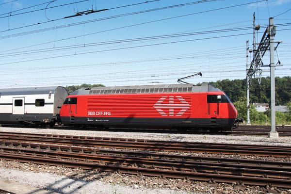 """Re 460 007-8 """"Junior"""", Killwangen, 06.09.2013 (©pannerrail.com)"""