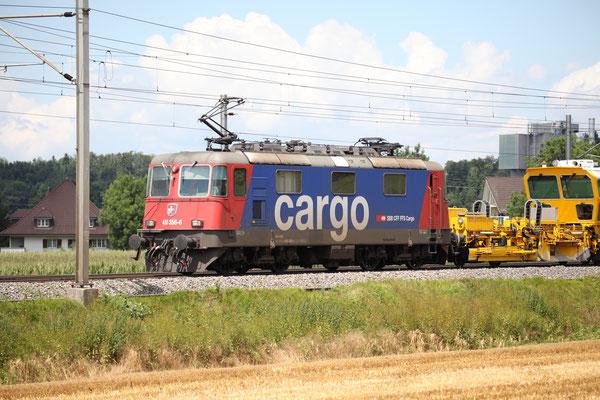 Re 4/4, 11365 (430 365-6 Cargo), Rubigen (14.07.2017) ©pannerrail.com