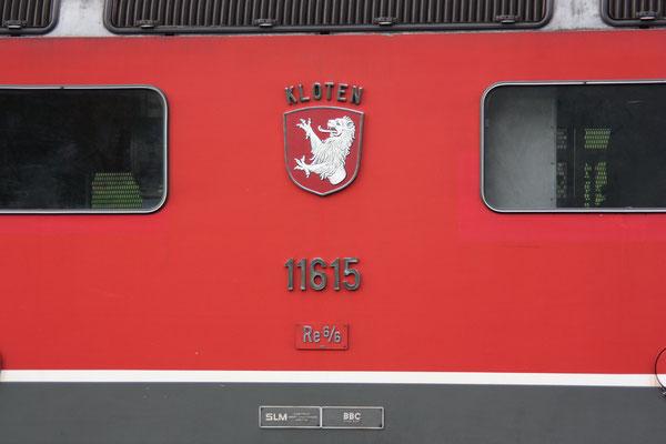 """Re 6/6 11615 """"Kloten"""", Ziegelbrücke (11.08.2010) ©pannerail.com"""