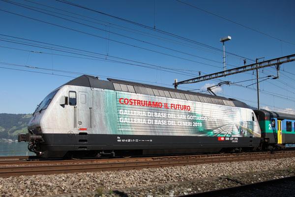 "Re 460 107-6 ""Alptransit"", Rotkreuz, 03.09.2013 (©pannerrail.com)"