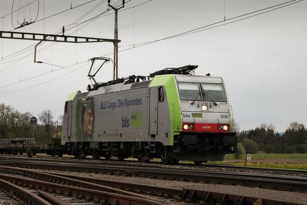 BLS Re 486 506, Oberrüti (23.04.2012) ©pannerrail.com