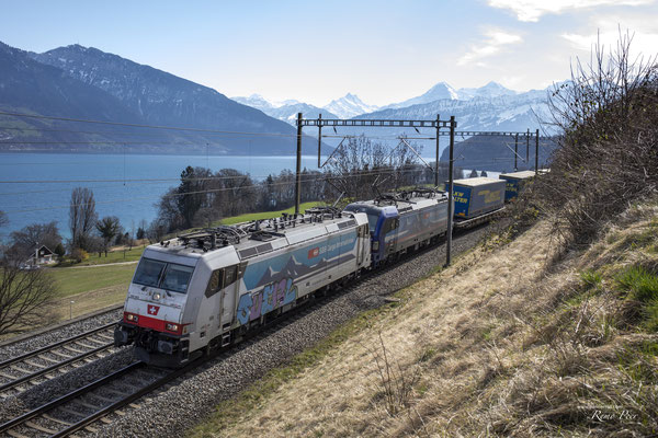 Ralpin, BR 186 903, Einigen (02.04.2021 ©pannerrail.com