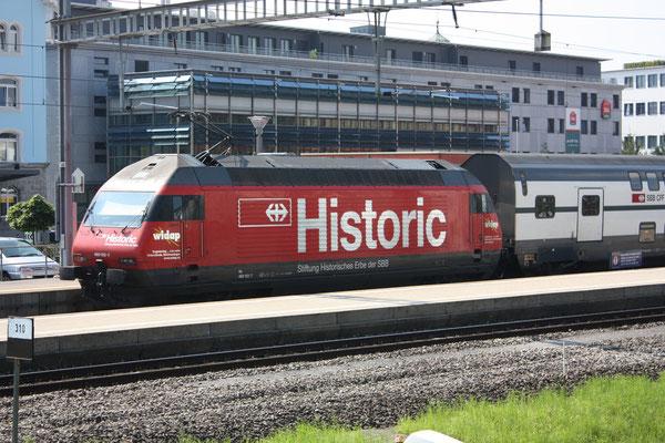 "Re 460 102-7 ""Historic"", Baar, 21.08.2010 (©pannerrail.com)"
