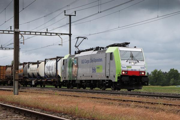 BLS Re 486 508, Oberrüti (23.05.2013) ©pannerrail.com