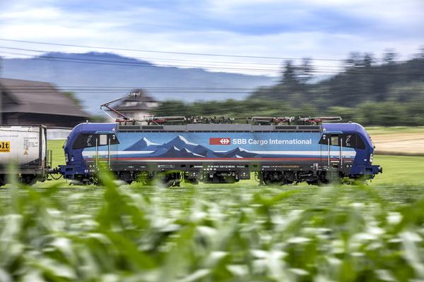"""SBB Cargo International, BR 193 528 """"Mosel"""", Rotkreuz (19.07.2020) ©pannerrail.com"""