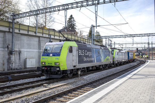 BLS Re 485 016-0, Spiez (01.04.2021) ©pannerrail.com