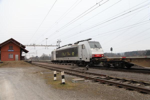 """Railcare BR 186 """"Flash Fire"""", Oberrüti (22.02.2013) ©pannerrail.com"""